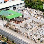 Aerial photo of Alfa Marble Company in Vari, Attica, Greece