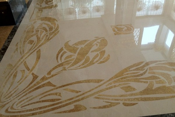 Marble floor with special design