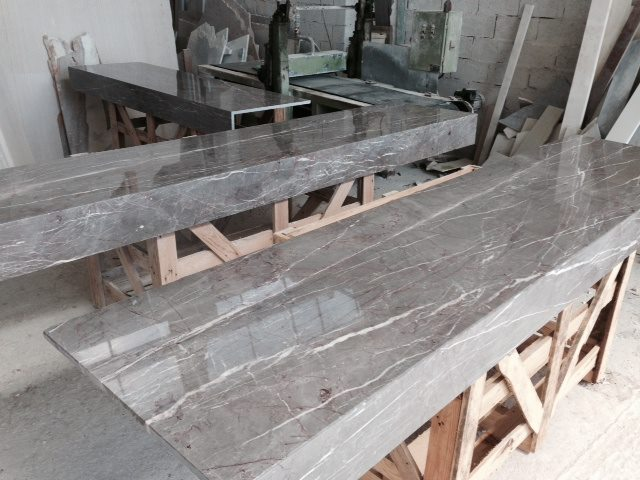 The Spanish Grey Marble Countertops Under Production